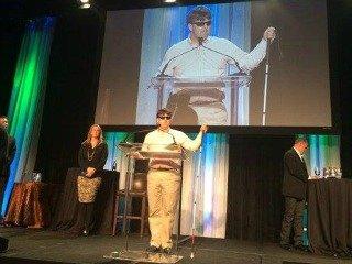 Mike Hess giving a speech.